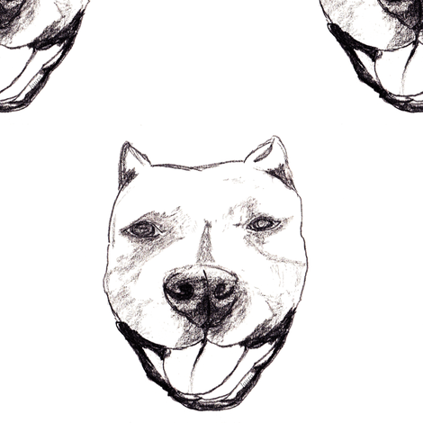 Sketched Adorable Happy Doggy Face fabric by ldqcanada on Spoonflower - custom fabric