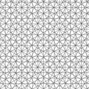 Atomic Grid - black & white