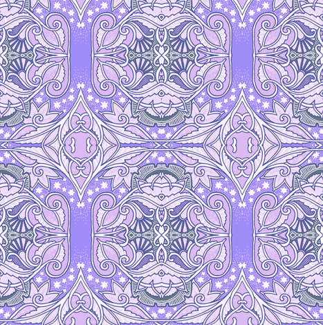 Lavender goes cosmic fabric edsel2084 spoonflower for Cosmic print fabric
