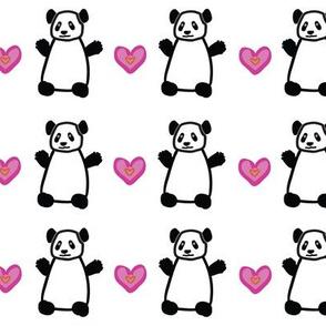 Dancing Pandas & Hearts