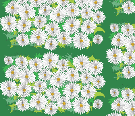 daisy patches fabric by colour_angel_by_kv on Spoonflower - custom fabric