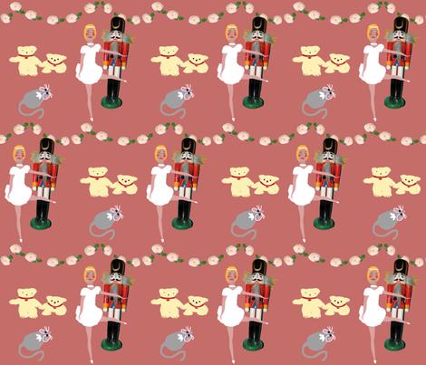 Nutcracker_A1 light fabric by ruthjohanna on Spoonflower - custom fabric