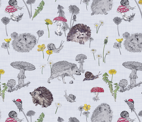 Hide & Seek (Grey) fabric by marthabowyer on Spoonflower - custom fabric