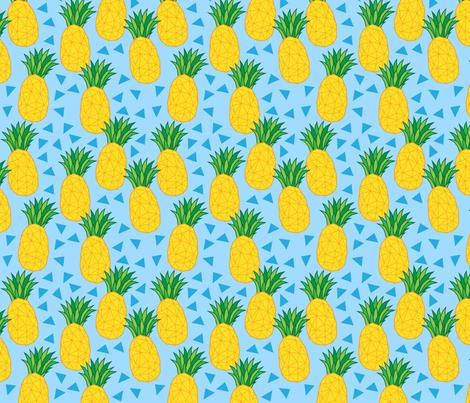 geometric pineapples fabric by castl3t0n on Spoonflower - custom fabric