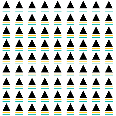 striped triangle teal yellow fabric by pencilmein on Spoonflower - custom fabric