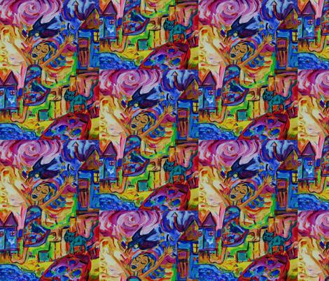 Dances With Tui fabric by diconnollyart on Spoonflower - custom fabric