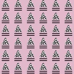 striped triangle dirty pink