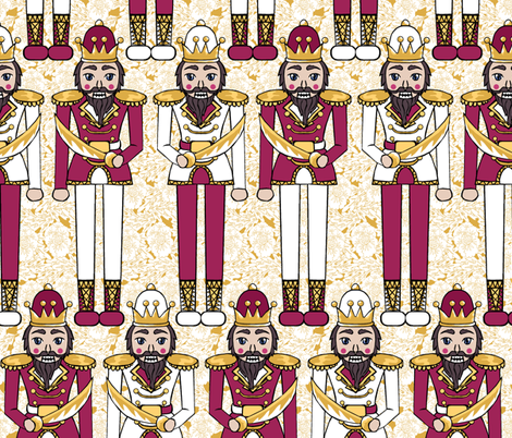 Nutcracker Prince Red and Gold fabric by pond_ripple on Spoonflower - custom fabric