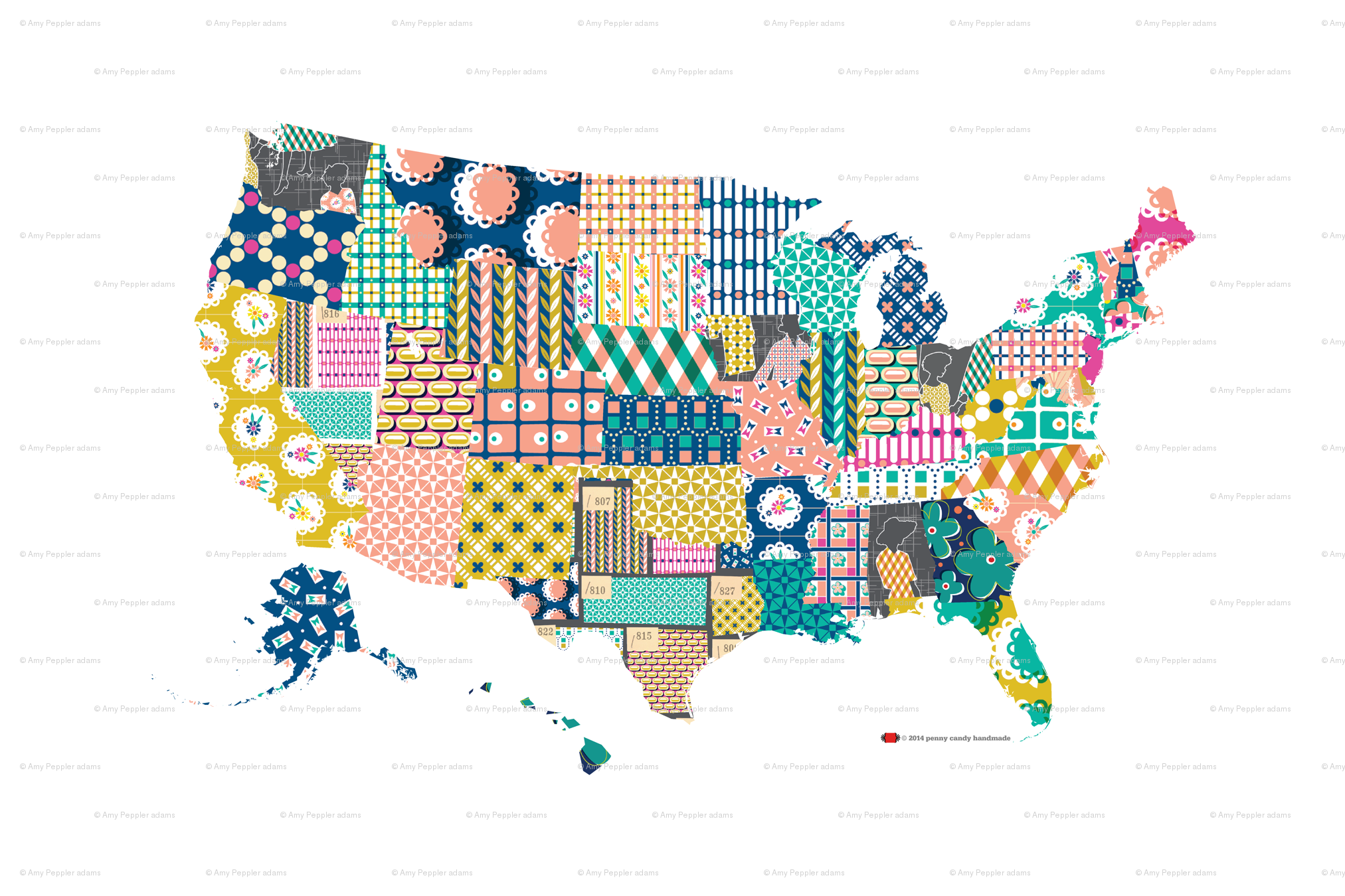 High Res Us Map.Dekalb U S Map Tea Towel United States America Usa Vintage