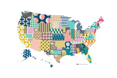 Us Map Photo Collage.Dekalb U S Map Tea Towel United States America Usa Vintage