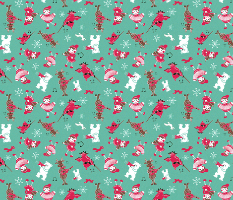 Christmas Music fabric by mary_lofgren on Spoonflower - custom fabric