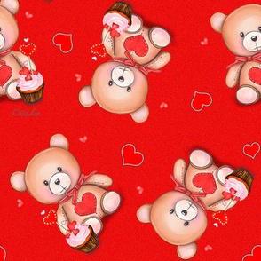 Teddy Bear red M