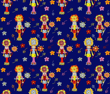 the next generation nutcrackers fabric by clairekalinadesigns on Spoonflower - custom fabric
