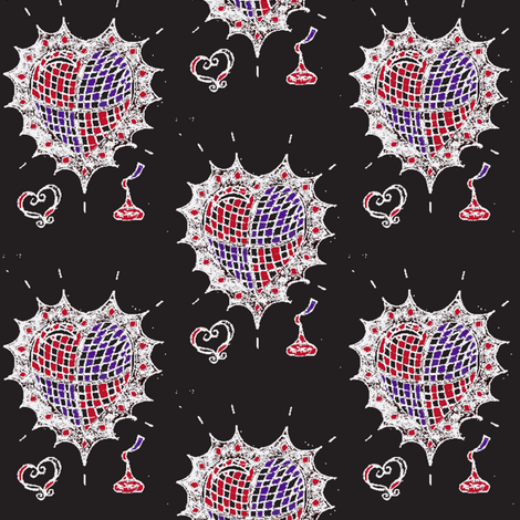 hearts and kisses-6 fabric by fashionita_boutique on Spoonflower - custom fabric