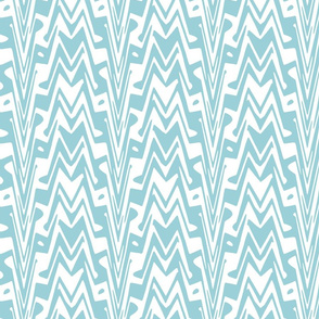 aztec zigzag in sky blue