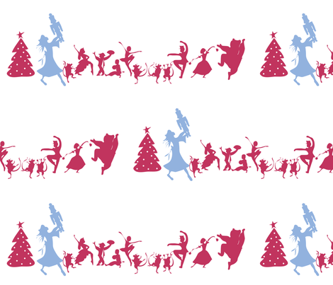The Nutcracker: Cast Silhouette fabric by colour_angel_by_kv on Spoonflower - custom fabric