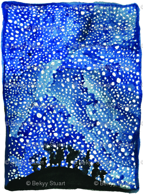 Night sky fabric bekyy93 spoonflower for Night sky material