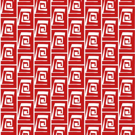 Block Curl Red White fabric by eve_catt_art on Spoonflower - custom fabric