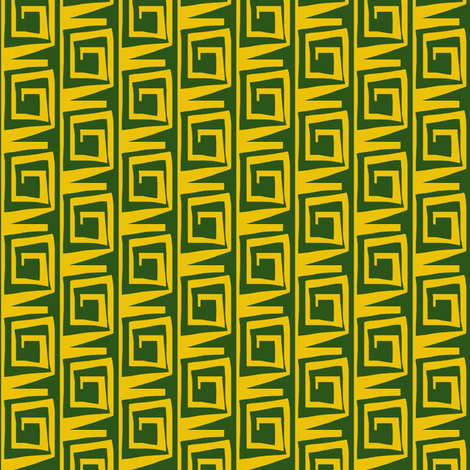 Block Curl Yellow Green fabric by eve_catt_art on Spoonflower - custom fabric