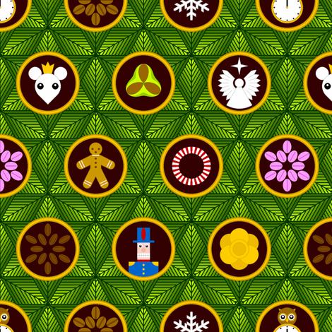 12 cast of nutcracker fabric by sef on Spoonflower - custom fabric