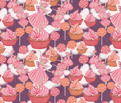 dance of the Sugar Plum Fairy fabric by kociara on Spoonflower - custom fabric