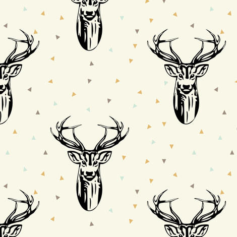 black and gold // buck champ fabric by littlearrowdesign on Spoonflower - custom fabric