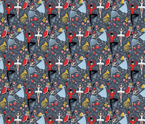 Clara's Nutcracker Ballet_Sm fabric by robinpickens on Spoonflower - custom fabric