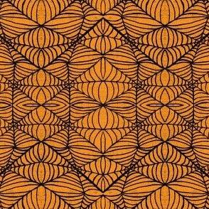 Webs, orange-black