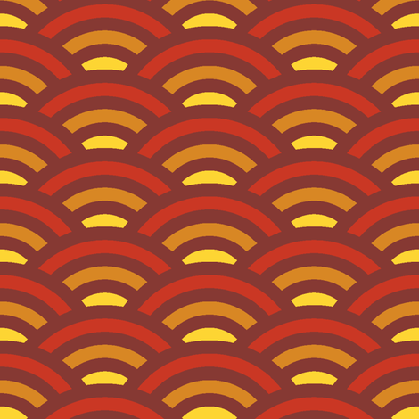 autumn hills - maple red fabric by weavingmajor on Spoonflower - custom fabric