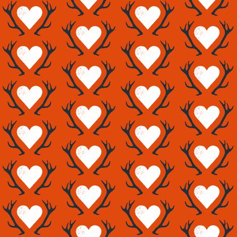 Artemis Red fabric by brainsarepretty on Spoonflower - custom fabric