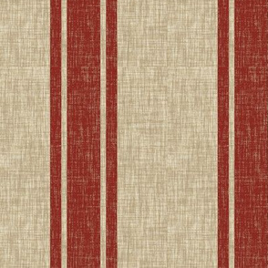 Large Western Ticking Stripe - red