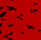 Night Hunter border - ruby