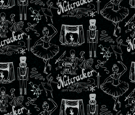 The Nutcracker, by Tchaikovsky fabric by mrshervi on Spoonflower - custom fabric
