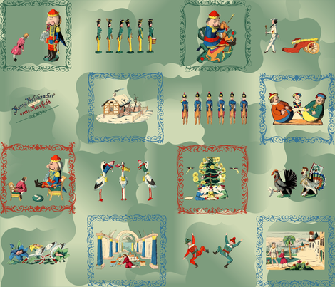 The Original King Nutcracker v2 fabric by emmie_norfolk on Spoonflower - custom fabric