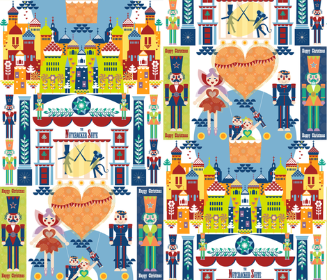Nutracker Toy Theatre fabric by paula's_designs on Spoonflower - custom fabric