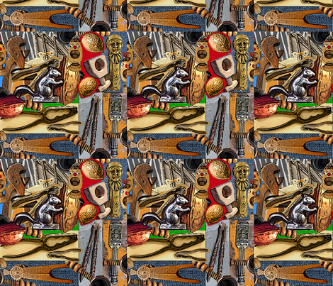 Old Nut Crackers fabric by sillasart on Spoonflower - custom fabric