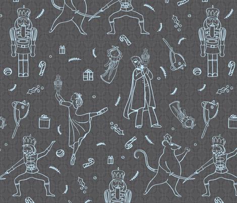 Nutcracker - © Lucinda Wei fabric by lucindawei on Spoonflower - custom fabric
