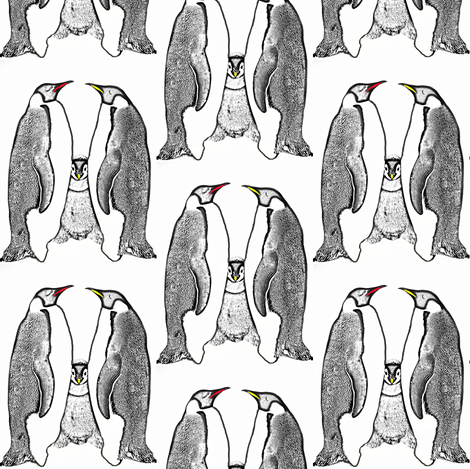 Penguin family fabric by duvadox on Spoonflower - custom fabric