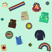 Girl Scout Patches, Uniforms and Pins