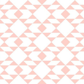 Peach on White Geometric Design