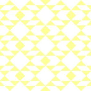 Lemon on White Geometric Design