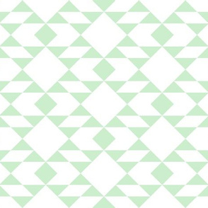 Pistachio on White Geometric Design