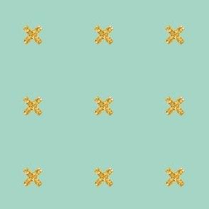 glitter x on mint