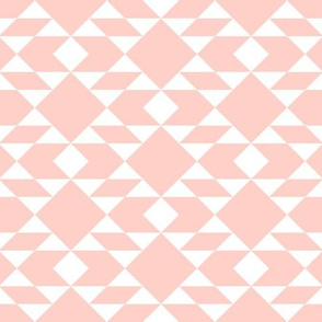 White on Peach Geometric Design