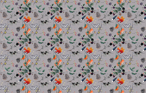 Autumn in my Garden SMALLER fabric by anntuck on Spoonflower - custom fabric