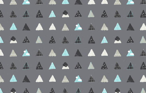 Mod Nordic Chalet Windows by Friztin fabric by friztin on Spoonflower - custom fabric