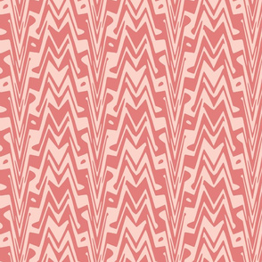 coral aztec zigzag