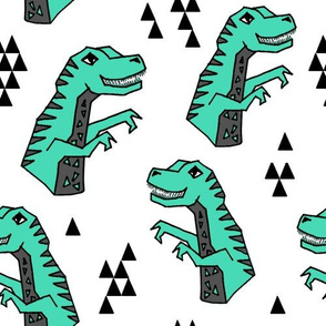 dinosaur fabric // dino kids nursery baby geometric triangles baby dino t rex