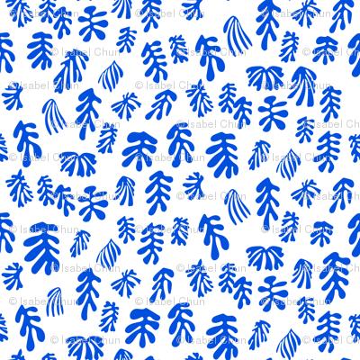 MATISSE–blue on white