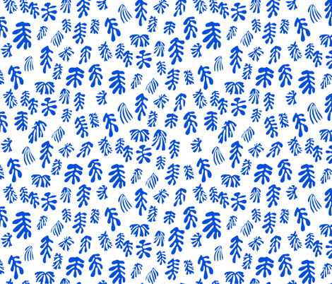 MATISSE–blue on white fabric by isabelc on Spoonflower - custom fabric